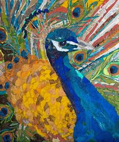 peacock: elizabeth st. hillaire nelson, collage
