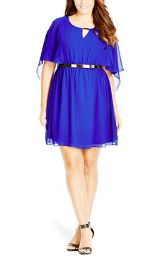 City Chic Belted Capelet Dress (Plus Size) available at #Nordstrom