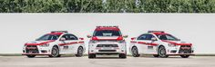 Mitsubishi Safety Vehicles for 2013 Pikes Peak Hill Climb. Outlander and Lancer Evo