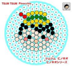 Pinocchio Tsum Tsum perler bead pattern