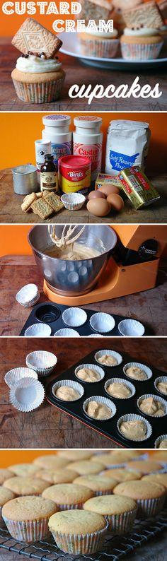 Home made custard cream cupcakes via @hisforhome #recipe #cupcakes #baking