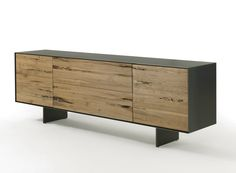 Briccola wood sideboard with drawers RIALTO FLY by Riva 1920 | design Giuliano Cappelletti