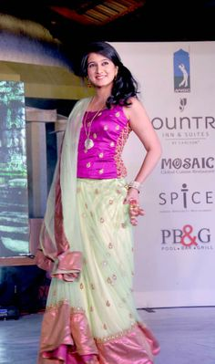Harshika Poonacha at a Mysore fashion show
