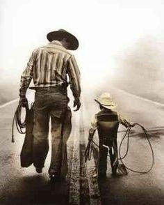 Big cowboy, lil cowboy
