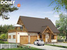 Projekt domu Kawka 3 - wizualizacja frontowa Interior And Exterior, Interior Design, Log Homes, Home Fashion, Ideas Para, House Plans, Sweet Home, House Design, House Styles