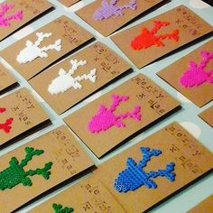Christmas cards hama beads by 100procent_linda