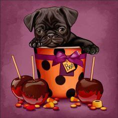 Maryline Cazenave Puppy Halloween