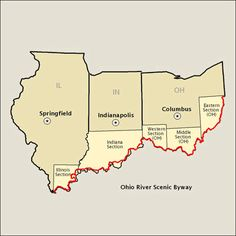 Ohio River Scenic Byway for PA, OH, IN and IL.