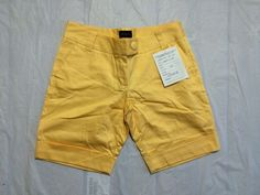 The Limited Drew Fit Womens Bright Yellow 4 Pocket Summer Shorts Size 8 #5 #TheLimited #DressShorts