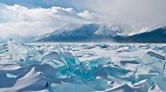 西伯利亞貝加爾湖的極美冰丘