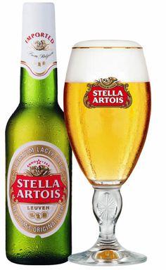 Stella Artois, a true lager All Beer, Wine And Beer, Best Beer, Stella Beer, Stella Artois Beer, Belgian Beer, Beer Brands, Beer Tasting, Beer Recipes