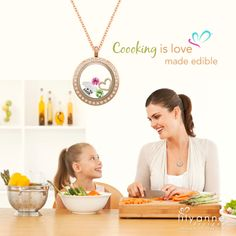 {Cooking is love made edible}  Thumbs up if you love to cook!   www.lilyannedesigns.com.au  #LilyAnneDesigns #PersonalisedLockets #Love