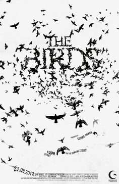 Design by ahlmkim02    this was for my school project, making a poster for a local theater!    obviously inspired by Alfred Hitchcock, but the poster was for the original screenplay 'The Birds'