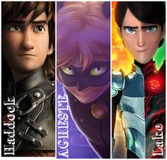 How to Train your Dragon/Miraculous/Troll Hunters Disney And Dreamworks, Disney Pixar, Httyd, Hiccup, Kids Shows, How To Train Your Dragon, Disney Fun, Miraculous Ladybug, Cool Art
