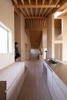 Japanese studio Katsutoshi Sasaki + Associates has built a house' in Japan with a cross-shaped plan and huge overhanging eaves that shelter four covered gardens. House Eaves, House Roof, Aichi, Micro Apartment, Apartment Interior, Residential Architecture, Interior Architecture, Interior Design, Japanese Architecture
