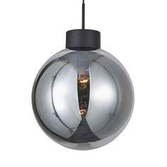 Hängelampe Astro, rauchgrauer Kugelschirm, Ø 35 cm von Brilliant Kugel, Ceiling Lights, Lighting, Pendant, Led Lampe, Home Decor, Products, See Through, Grey