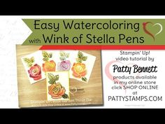 Easy Watercoloring with Wink of Stella Pens - Video Tutorial   Patty's Stamping Spot   Bloglovin'