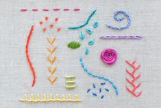 Learning hand embroidery is fun and easy with these 15 essential stitches for beginners and experienced stitchers! #HandEmbroidery