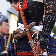 Details of samurai armor for Kachiyama Matsuri, Tokyo, Japan