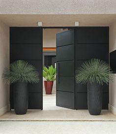 Vasos de entrada moderna