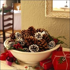 Need to find a place here in town where I can pick up pine cones for a cute table centerpiece...