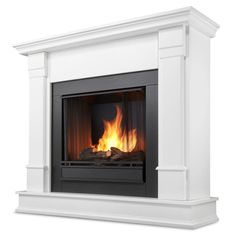 Real Flame Silverton 48 in. Gel Fuel Fireplace in White-G8600-W at The Home Depot