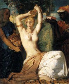 Théodore Chassériau, The Toilet of Esther, 1841, Oil on canvas, 45,5 x 35,5 cm, Musée du Louvre, Paris