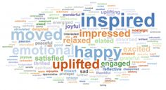 Here's how patrons felt after the TMC's Mozart and Haydn concert in October 2014. Patrons who completed a survey were asked for six words to describe how the concert made them feel.