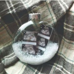Ultrasound pics for babys first christmas ornament! Such a great idea!
