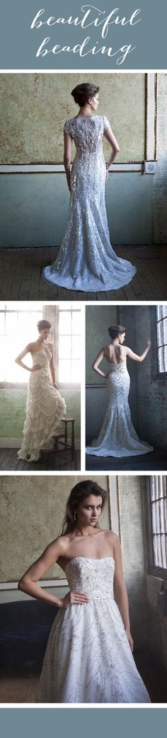 So in love with all of these @enaurabridal wedding dresses! #beading #details #weddinggown