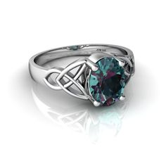 celtic june birthstone ring.  love this combination.