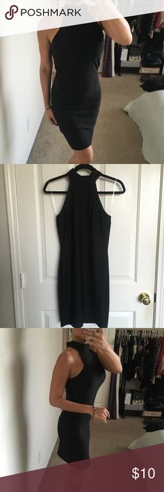 Turtleneck ribbed sleeveless bodycon dress Turtleneck ribbed sleeveless bodycon dress. Pre-owned. Wore once to a fall bachelorette party in NYC. Windsor Dresses Midi