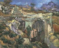 Vincent van Gogh: Entrance to a Quarry near Saint-Remy. Oil on canvas. Saint-Remy: October, 1889. Private collection.