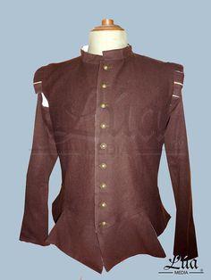 Jubón confeccionado en paño de lana color marrón