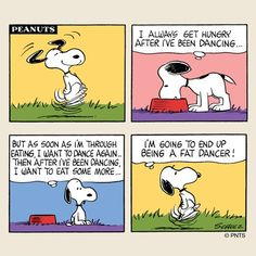 Breakfast with Snoopy.