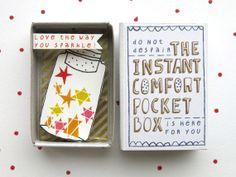 The CHRISTMAS Instant Comfort Pocket Box by kimslittlemonsters