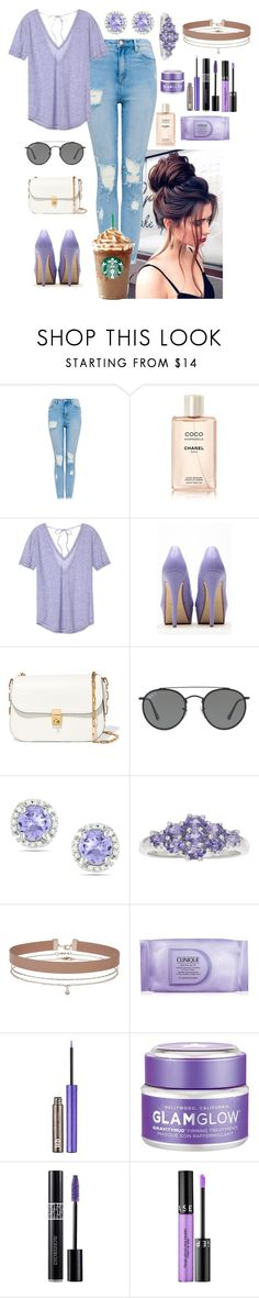 """""""Out For Coffee"""" by kaileewhaley13 ❤ liked on Polyvore featuring Chanel, Victoria's Secret, Anne Michelle, Valentino, Ray-Ban, Ice, Miss Selfridge, Clinique, Urban Decay and GlamGlow"""