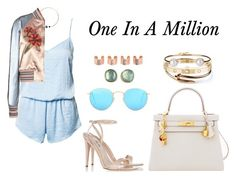 """""""One In A Million"""" by anaelle2 ❤ liked on Polyvore featuring Rut&Circle, Artelier by Cristina Ramella, Valentino, Jamie Joseph, Miu Miu, Hermès, Ray-Ban, Cartier, Tate and Letters By Zoe"""
