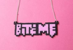 Bite Me Hama Bead Necklace by obscurepastels on Etsy, $23.00