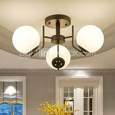 60W Flush Mount , Modern/Contemporary / Country Painting Feature for Mini Style Metal Living Room / Bedroom / Entry 5222138 2016 – $82.79