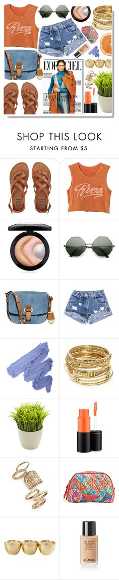 """#316"" by anilovic ❤ liked on Polyvore featuring Billabong, RVCA, MAC Cosmetics, MICHAEL Michael Kors, ABS by Allen Schwartz, Kikkerland, Topshop and Vera Bradley"