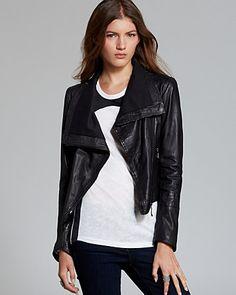 Quotation: Doma Jacket - Asymmetric Washed Leather | Bloomingdale's Moto jacket