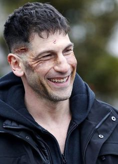 "Jon Bernthal filming Marvel's ""The Punisher"" on March 31, 2017 in New York City."