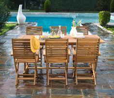 Resina mesa para exterior fija de bamb blau rectangular - Conjunto jardin aki ...