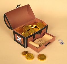 Piratas - Card Craft / Card Making Templates - 3D Flower/Treasure Chest by Card Carousel