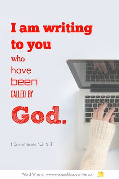 The Email Segment - a #devotional for #writers based on 1 Cor 1:2 with Word Wise at Nonprofit Copywriter #FreelanceWriting #ChristianWriting Copywriting