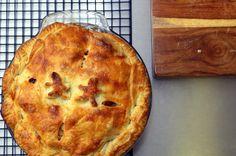 friendship apple cranberry pie with bourbon caramel by sassyradish