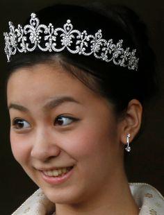 Princess Kako of Akishino's Diamond Tiara made by Mikimoto in 2014