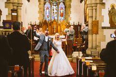 Real Bride | Katie in the 'Lauryn' Gown for a stunning traditional church wedding | Amanda Wyatt | Wedding dress | Ball gown |