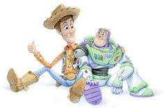 Woody and Buzz watercolour by ShaneMadeArt.deviantart.com on @deviantART